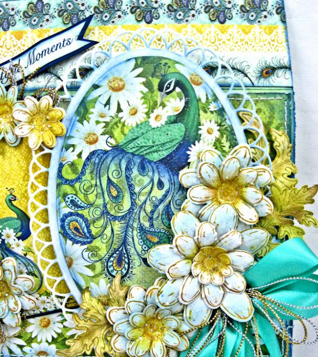 Peacock Paisley Altered Envelope Tutorial by Kathy Clement Product by Heartfelt Creations Photo 2
