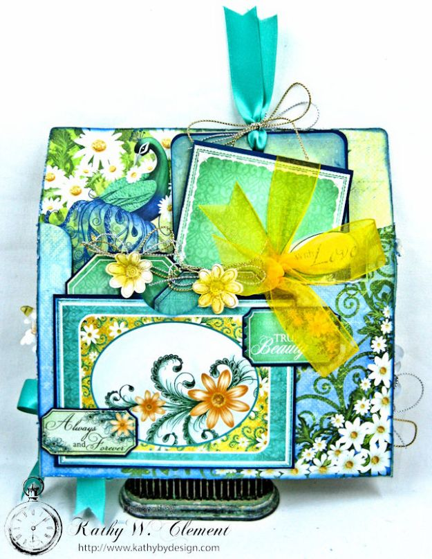Peacock Paisley Altered Envelope Tutorial by Kathy Clement Product by Heartfelt Creations Photo 4