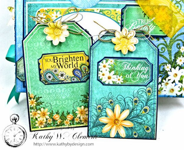 Peacock Paisley Altered Envelope Tutorial by Kathy Clement Product by Heartfelt Creations Photo 6