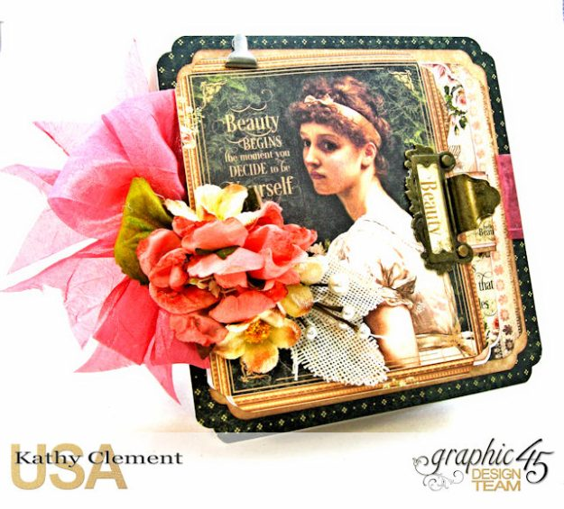 Fanfare Card Tutorial Portrait of a Lady by Kathy Clement Product by Graphic 45 Photo 2