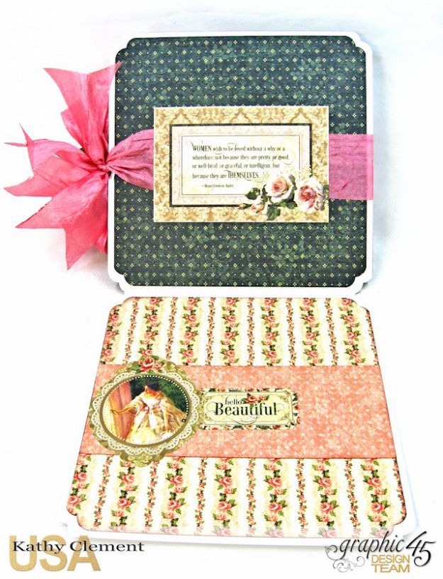 Fanfare Card Tutorial Portrait of a Lady by Kathy Clement Product by Graphic 45 Photo 9