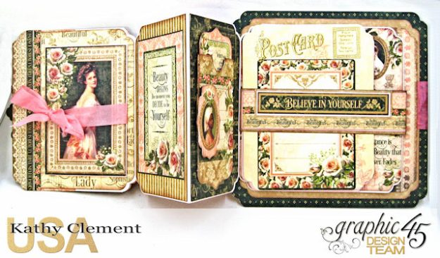 Fanfare Card Tutorial Portrait of a Lady by Kathy Clement Product by Graphic 45 Photo 4