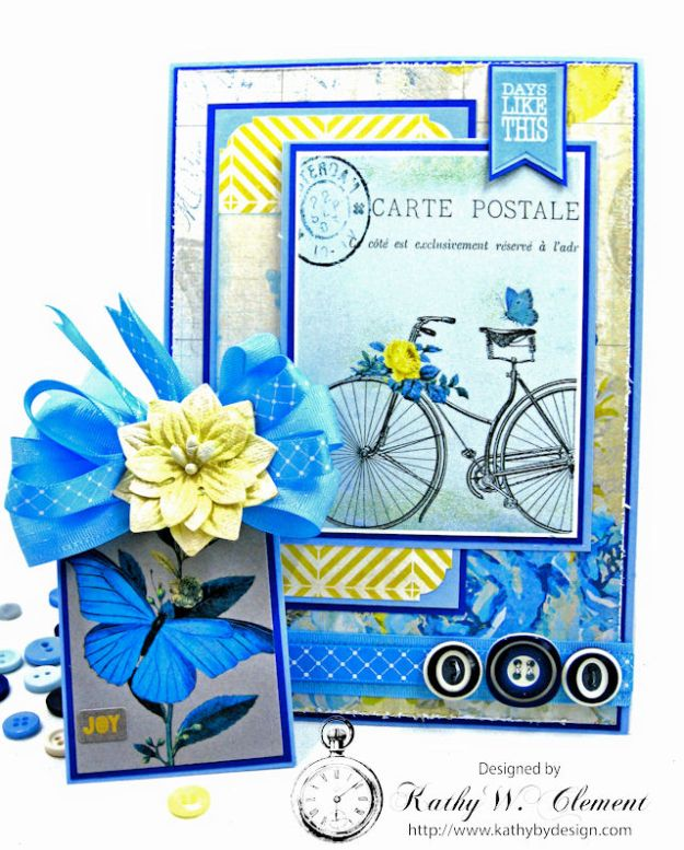 Ride On All Occasion Hidden Tag Card by Kathy Clement for Really  Reasonable Ribbon Photo 3
