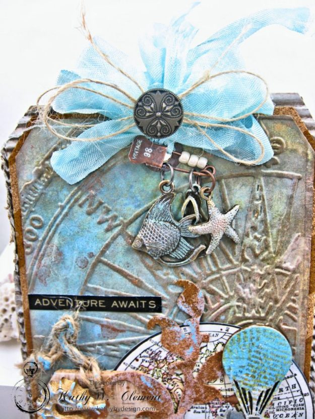 Seaside Summer Mixed Media Tag by Kathy Clement for Frilly and Funkie In the Good Old Summertime Challenge Photo 4