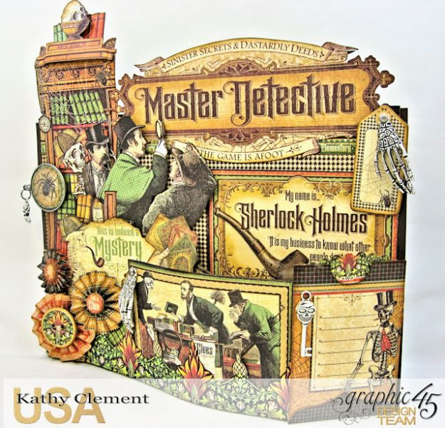 #G45Gentleman Challenge The Game is Afoot Bendi Card Master Detective by Kathy Clement Product by Graphic 45 Photo 2