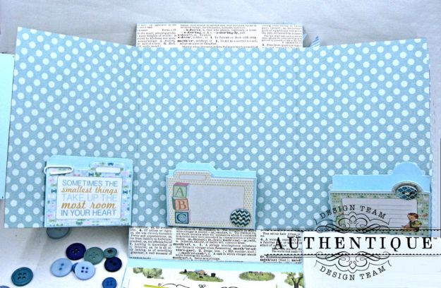 Authentique Beginnings Baby Boy Shaker Card Tutorial by Kathy Clement Photo 10