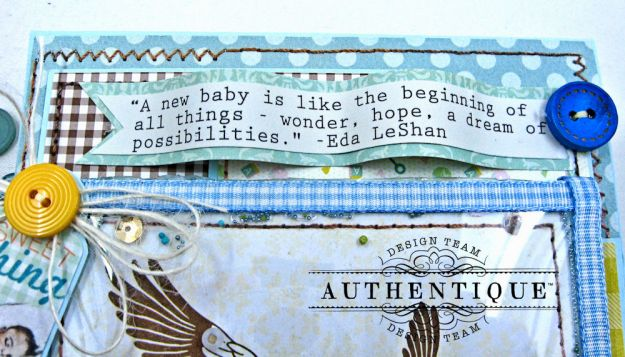 Authentique Beginnings Baby Boy Shaker Card Tutorial by Kathy Clement Photo 6