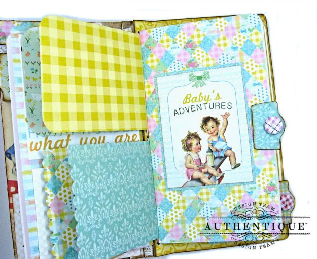 Beginnings Baby Book Beginnings by Kathy Clement Product by Authentique Paper Photo 14