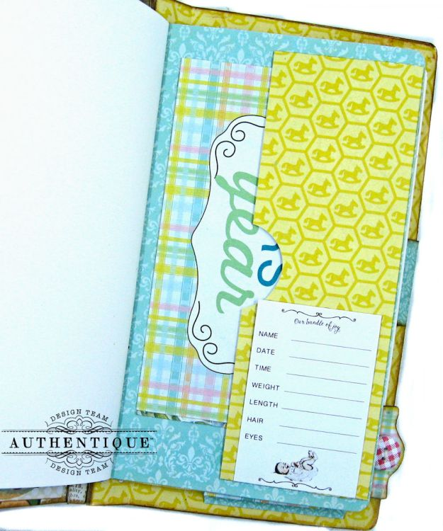 Beginnings Baby Book Beginnings by Kathy Clement Product by Authentique Paper Photo 9