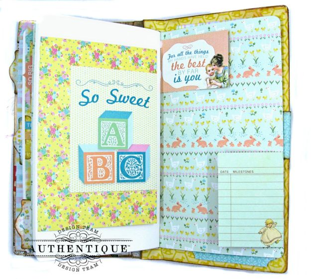 Beginnings Baby Book Beginnings by Kathy Clement Product by Authentique Paper Photo 17