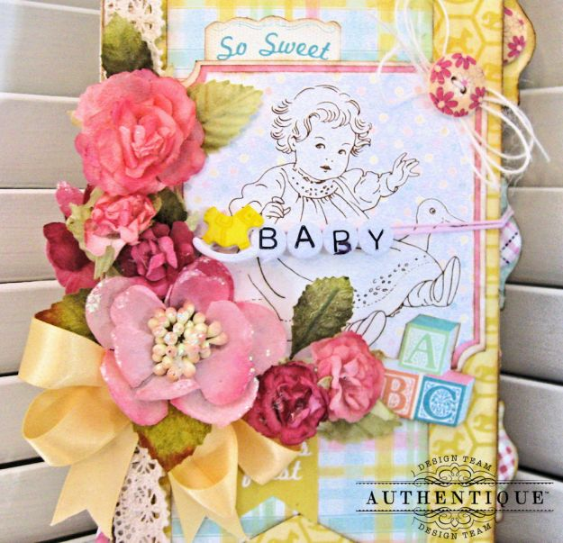 Beginnings Baby Book Beginnings by Kathy Clement Product by Authentique Paper Photo 2