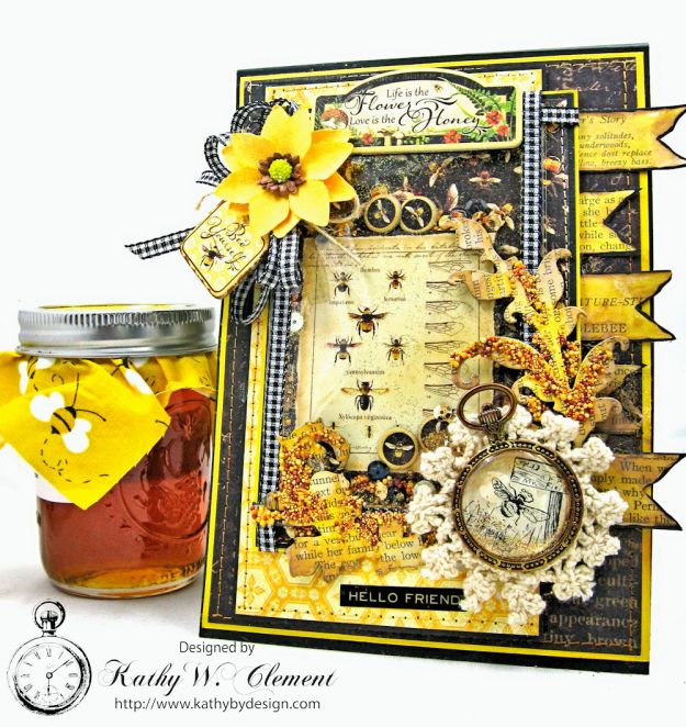 Nature Sketchbook Honeybee Shaker Card by Kathy Clement Photo 1