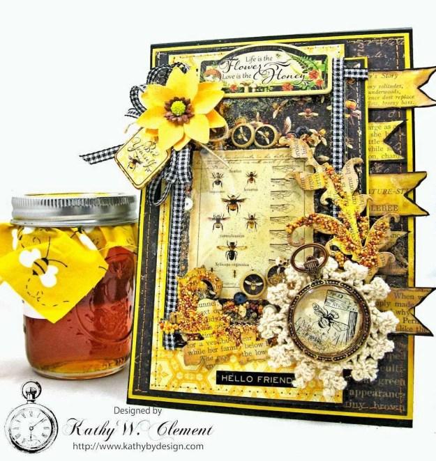 Nature Sketchbook Honeybee Shaker Card by Kathy Clement Photo 1