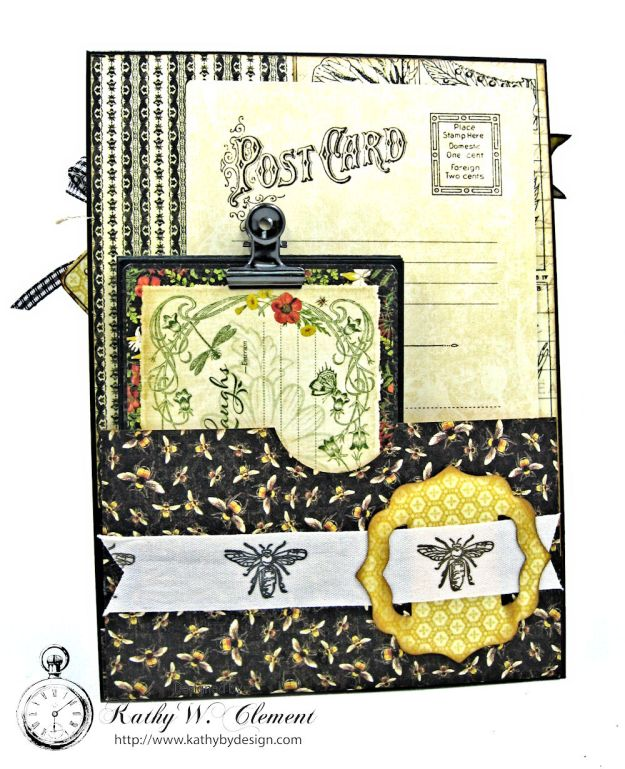 Nature Sketchbook Honeybee Shaker Card by Kathy Clement Photo 7