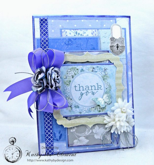 Lilac Whisper Thank You Card by Kathy Clement for RRR Product by Kaisercraft Photo 1
