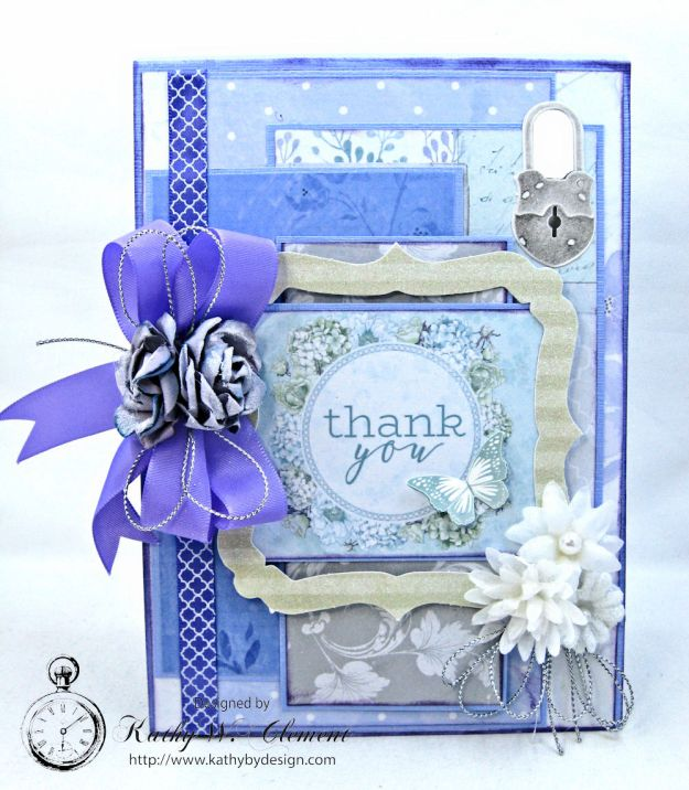 Lilac Whisper Thank You Card by Kathy Clement for RRR Product by Kaisercraft Photo 3