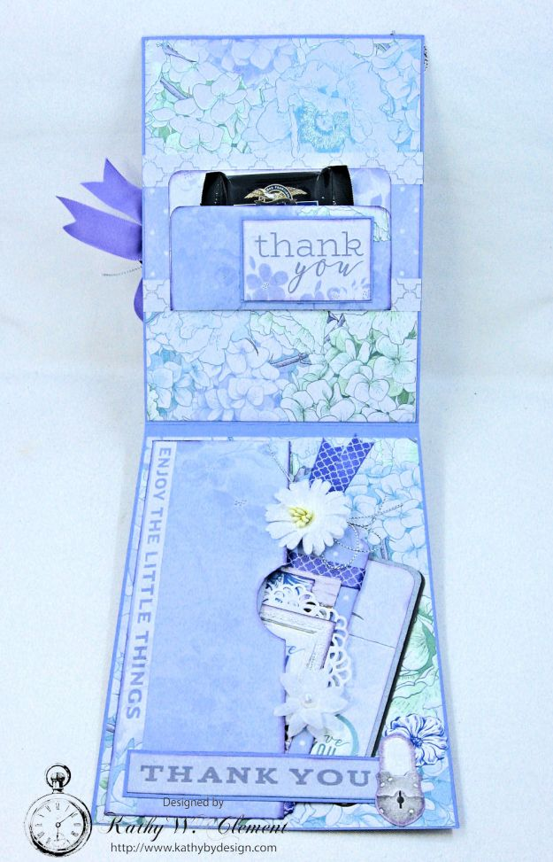 Lilac Whisper Thank You Card by Kathy Clement for RRR Product by Kaisercraft Photo 4