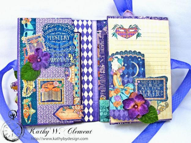Midnight Masquerade Tri Fold Folio by Kathy Clement for RRR Product by Graphic 45 Photo 4