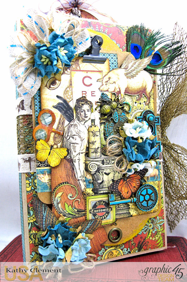 Goin Junkin Olde Curiosity Shoppe Folio by Kathy Clement Product by Graphic 45 Photo 3