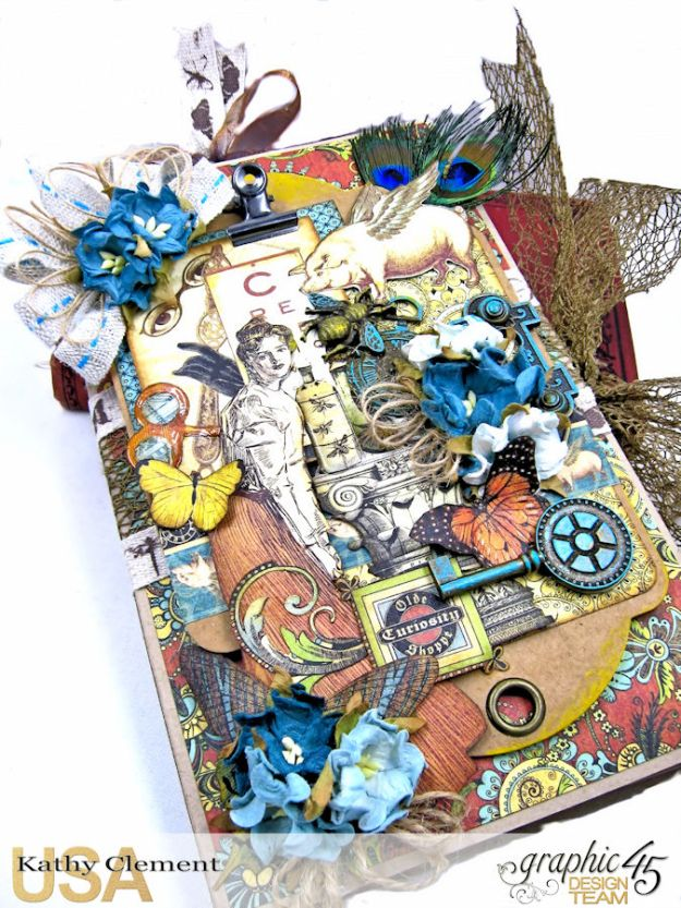 Goin Junkin Olde Curiosity Shoppe Folio by Kathy Clement Product by Graphic 45 Photo 2