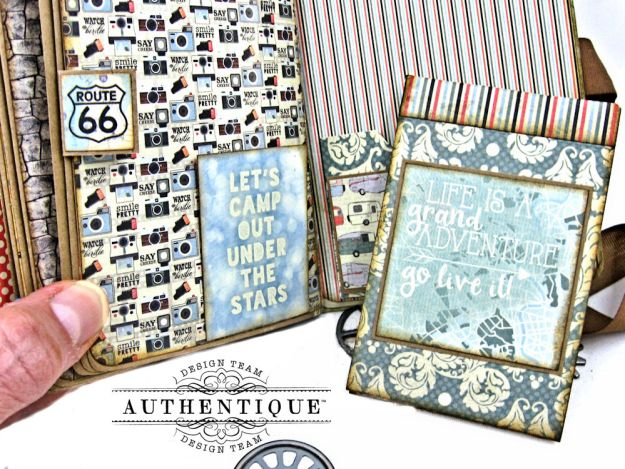 Authentique Pastime Passport Style Mini Album by Kathy Clement Photo 12