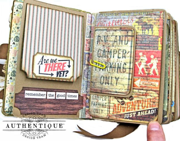 Authentique Pastime Passport Style Mini Album by Kathy Clement Photo 5