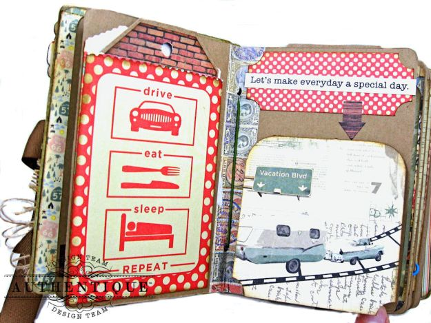 Authentique Pastime Passport Style Mini Album by Kathy Clement Photo 7