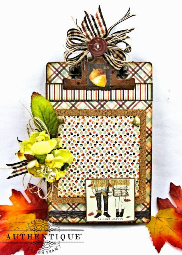 Back to School Mini Message Center Bountiful by Kathy Clement Product by Authentique Photo 1