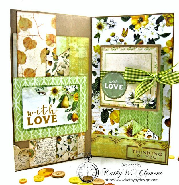 Autumn Hues Tag Pocket Greeting Card by Kathy Clement for Really Reasonable Ribbon Photo 4