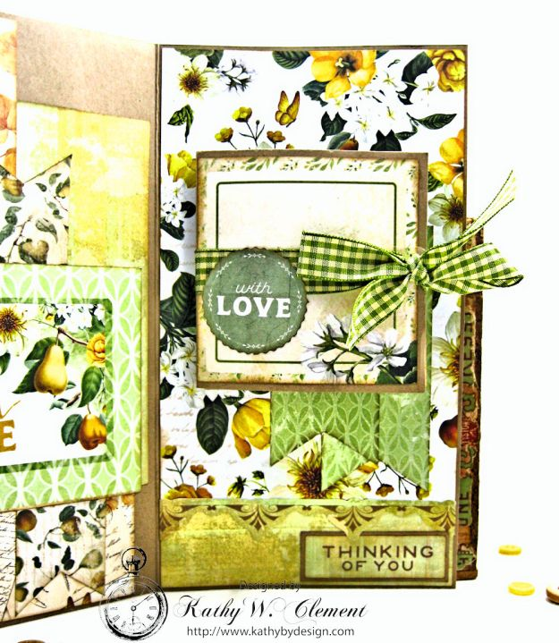 Autumn Hues Tag Pocket Greeting Card by Kathy Clement for Really Reasonable Ribbon Photo 5