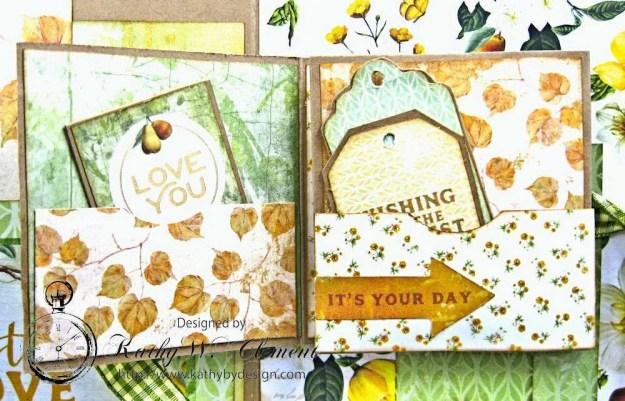 Autumn Hues Tag Pocket Greeting Card by Kathy Clement for Really Reasonable Ribbon Photo 6
