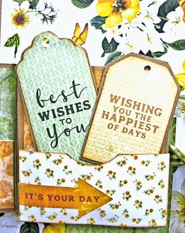 Autumn Hues Tag Pocket Greeting Card by Kathy Clement for Really Reasonable Ribbon Photo 7