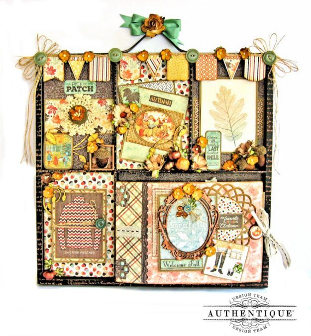 Authentique Bountiful Fall Home Decor Tutorial by Kathy Clement Photo 1