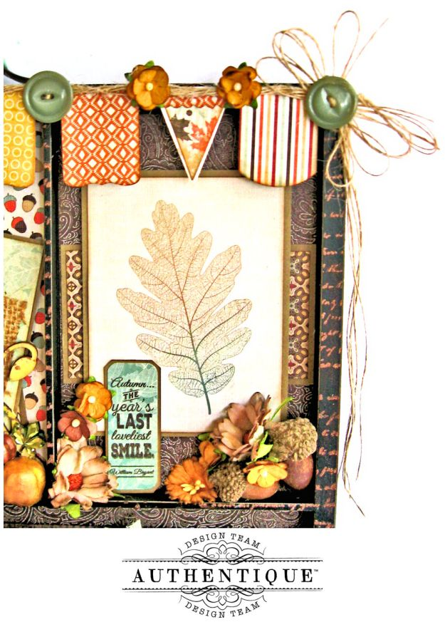 Authentique Bountiful Fall Home Decor Tutorial by Kathy Clement Photo 4