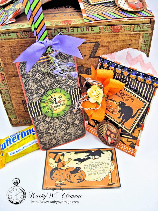 Butterfinger Halloween Treat Bags by Kathy Clement for RRR September 2017 Blog Hop Photo 6