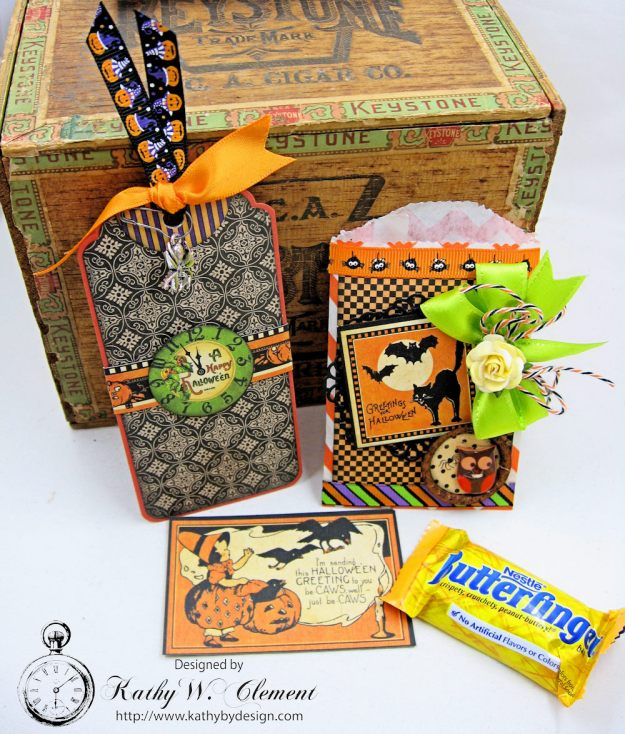Butterfinger Halloween Treat Bags by Kathy Clement for RRR September 2017 Blog Hop Photo 4