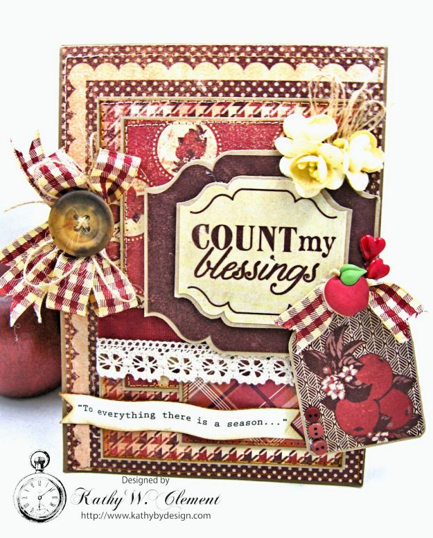 Counting My Blessings Fall Folio by Kathy Clement for Really Reasonable Ribbon Product by Authentique Photo 1