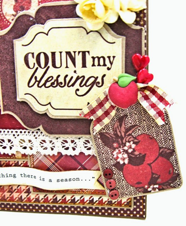 Counting My Blessings Fall Folio by Kathy Clement for Really Reasonable Ribbon Product by Authentique Photo 7