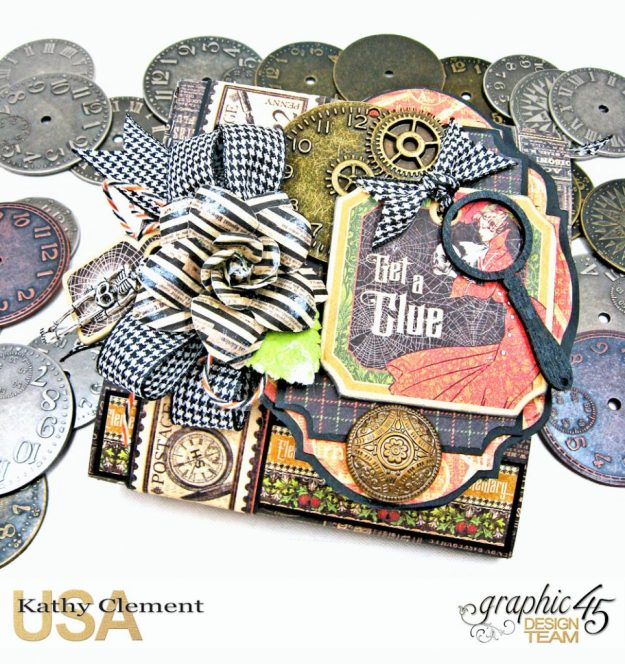 Graphic 45 Master Detective Photo Wallet Tutorial Master Detective by Kathy Clement Product by Graphic 45 Photo 1