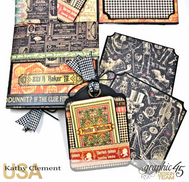 Graphic 45 Master Detective Photo Wallet Tutorial Master Detective by Kathy Clement Product by Graphic 45 Photo 10