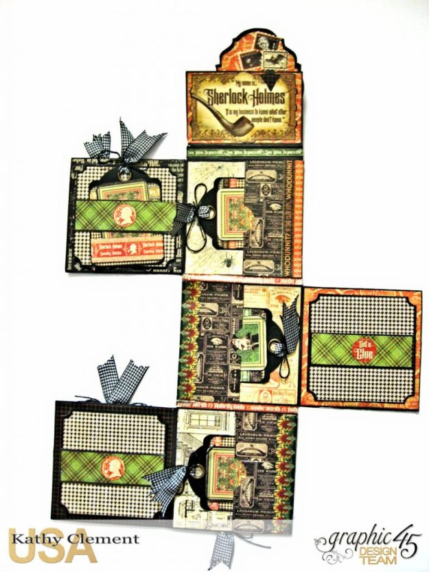 Graphic 45 Master Detective Photo Wallet Tutorial Master Detective by Kathy Clement Product by Graphic 45 Photo 11