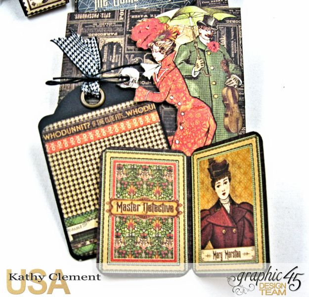 Graphic 45 Master Detective Photo Wallet Tutorial Master Detective by Kathy Clement Product by Graphic 45 Photo 8