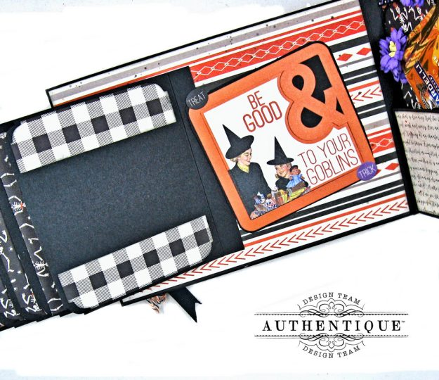 Authentique Bewitched Halloween Card Folio by Kathy Clement Photo 7