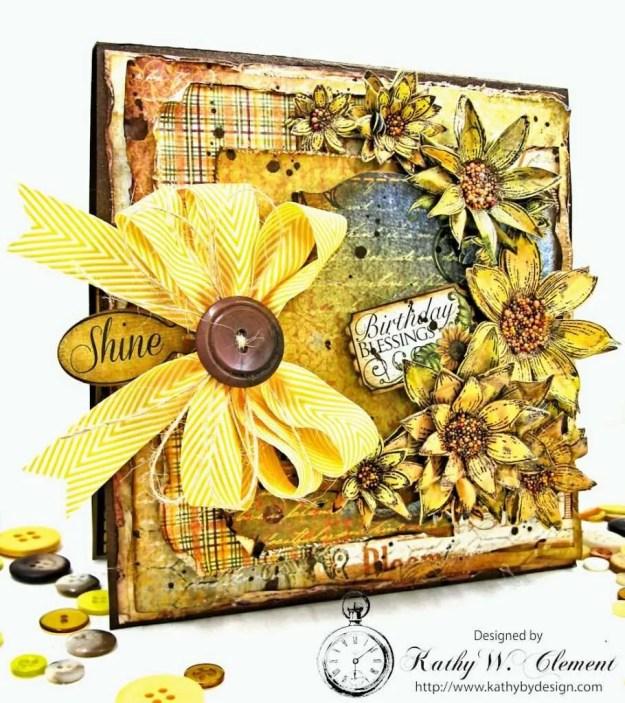 Heartfelt Creations Classic Sunflower Birthday Card Folio by Kathy Clement Photo 2