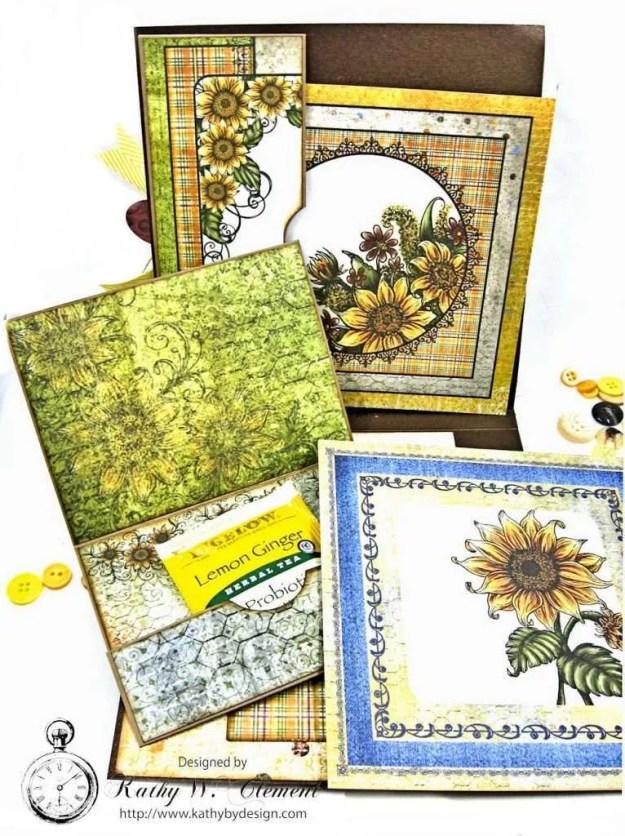 Heartfelt Creations Classic Sunflower Birthday Card Folio by Kathy Clement Photo 6