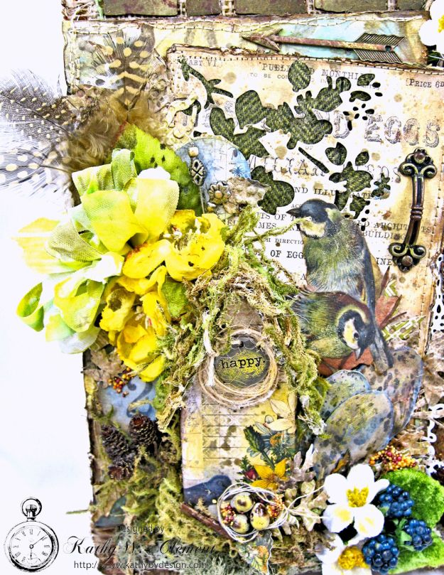 Home Sweet Forest Home Mixed Media Canvas by Kathy Clement for Frilly and Funkie Photo 3