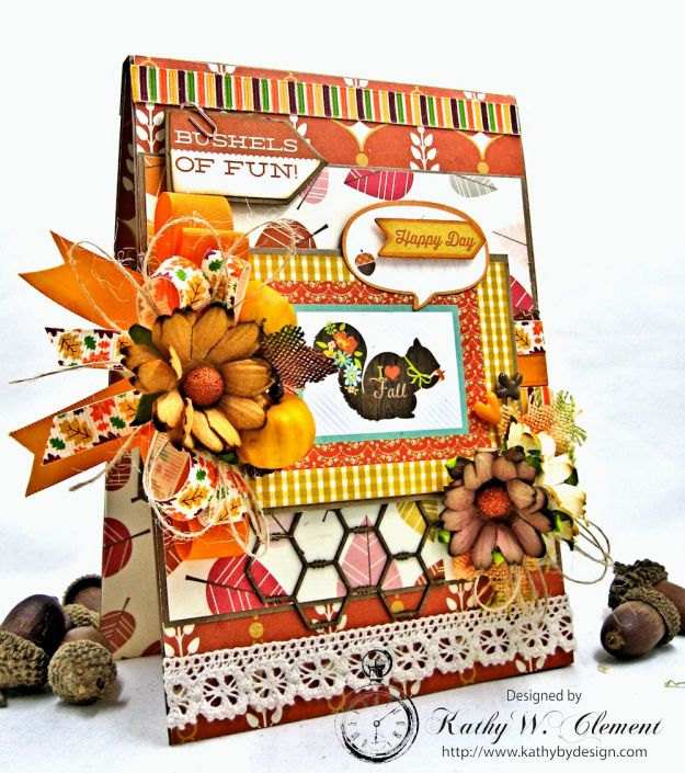 Autumn Love All Occasion Greeting Card by Kathy Clement for Really Reasonable Ribbon Photo  3
