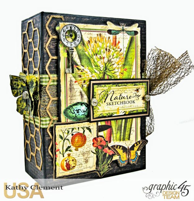 Nature Sketchbook Correspondence Kit Nature Sketchbook by Kathy Clement Product by Graphic 45 Photo 1