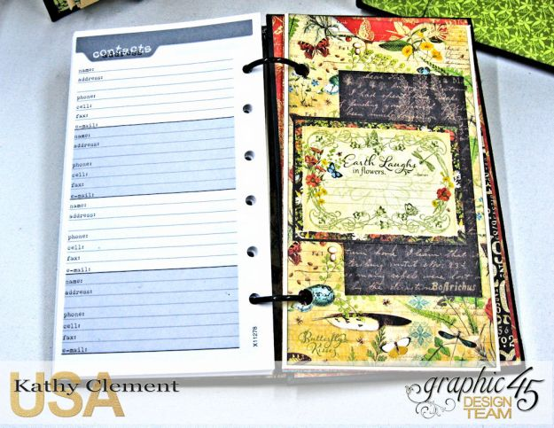 Nature Sketchbook Correspondence Kit Nature Sketchbook by Kathy Clement Product by Graphic 45 Photo 13