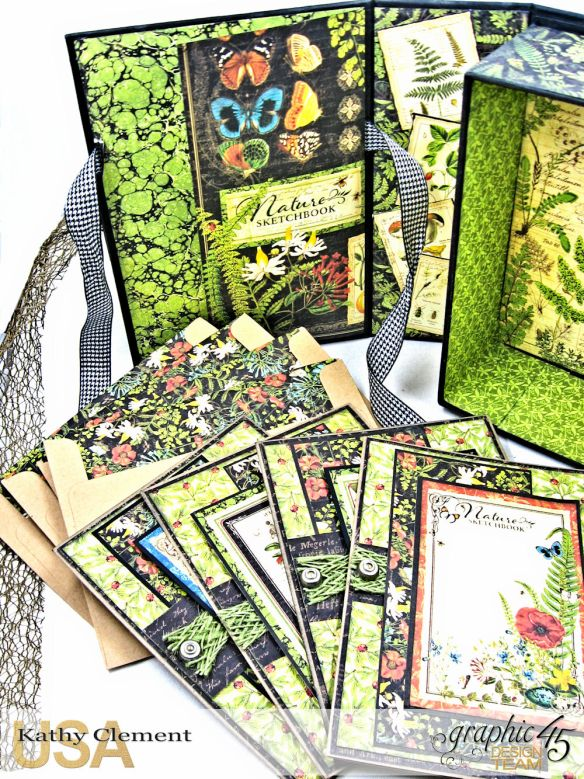 Nature Sketchbook Correspondence Kit Nature Sketchbook by Kathy Clement Product by Graphic 45 Photo 6
